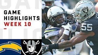 Chargers vs. Raiders Week 10 Highlights | NFL 2018