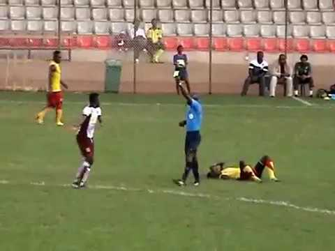 MBALLA Moser Charlie, Jersey 11, team in white, against Cameroon national A' team