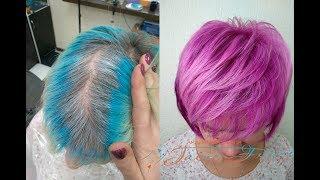 Креативное окрашивание волос | Цвет фуксия