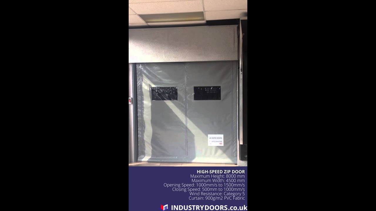 High Speed Industrial Zip Door demo & High Speed Industrial Zip Door demo - YouTube