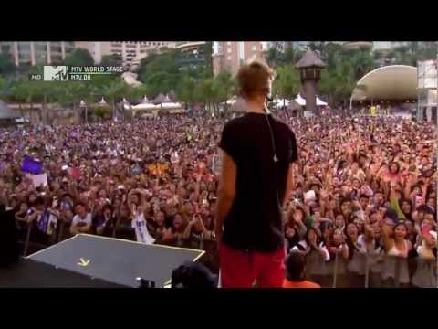 Justin Bieber - Boyfriend Live At MTV World Stage In Malaysia 2012