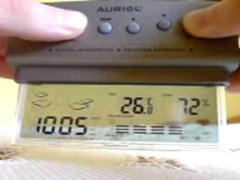 Auriol H14265 Weather Station Setup Youtube
