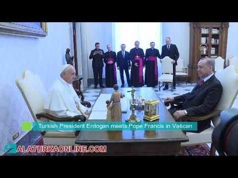 Turkish President Erdogan meets Pope Francis in Vatican
