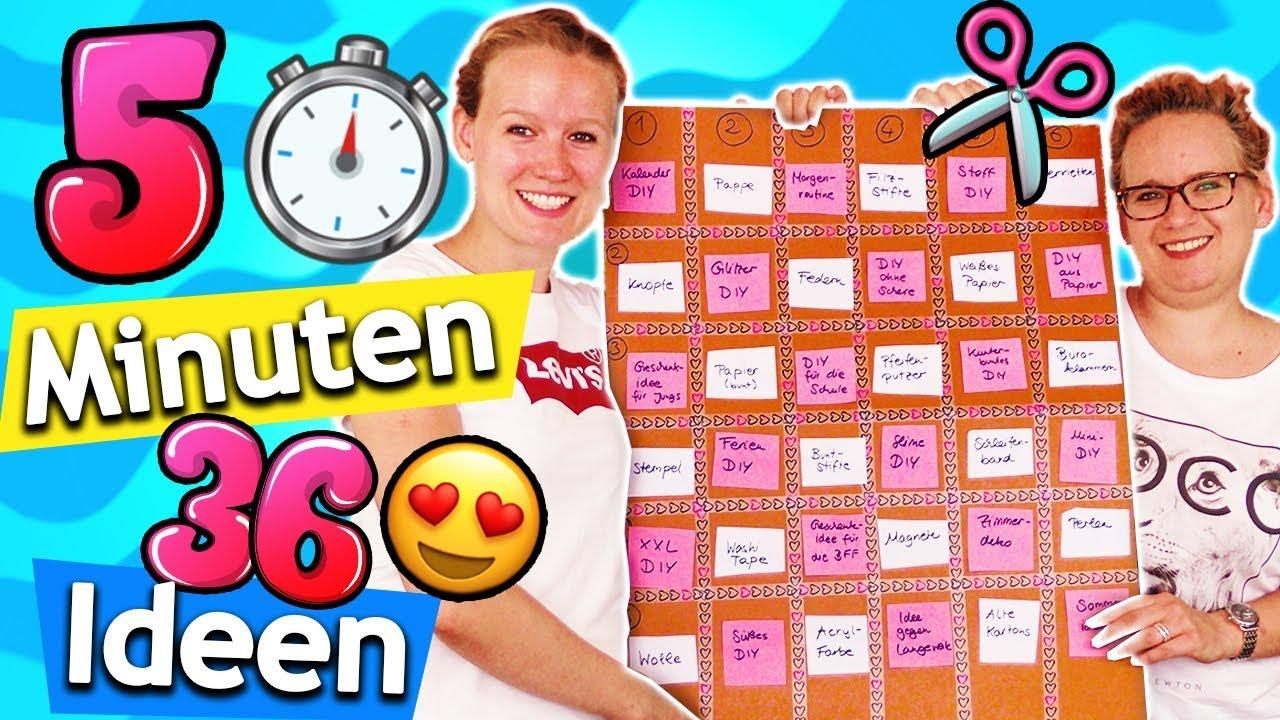 NEUE DIY 7 MINUTEN CHALLENGE mit 7 coolen Themen! Eva vs Kathi Ideen gegen  Langeweile & Stempel DIY