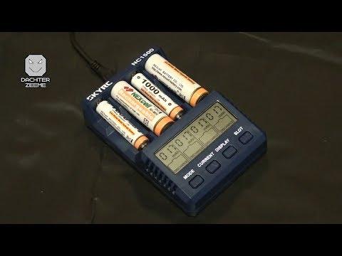 Зарядное устройство SKYRC NC1500 из Китая (4 независимых отсека, измерение ёмкости, питание от USB)