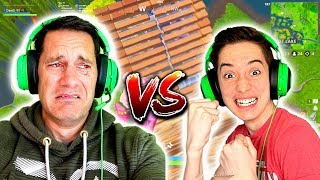 I Made My Dad Cry Playing Fortnite!! - KID VS DAD 1vs1s Playgrounds! dan d