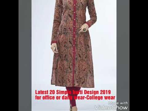 Latest Kurti Design-Idea for office wear/College wear 2019