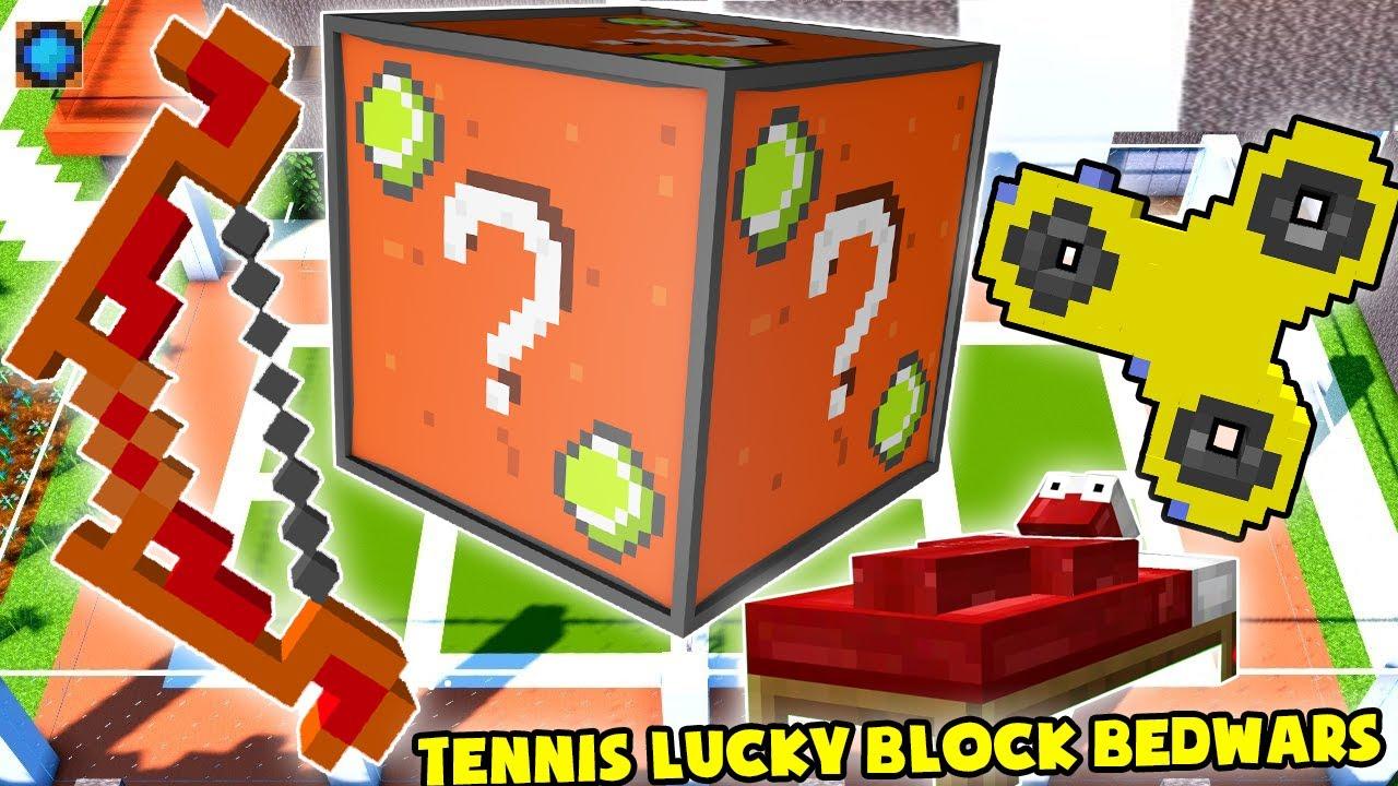 MINI GAME : TENNIS LUCKY BLOCK BEDWARS * NOOB TRỞ THÀNH NGƯỜI BẤT TỬ CHẤP CẢ HACK ??