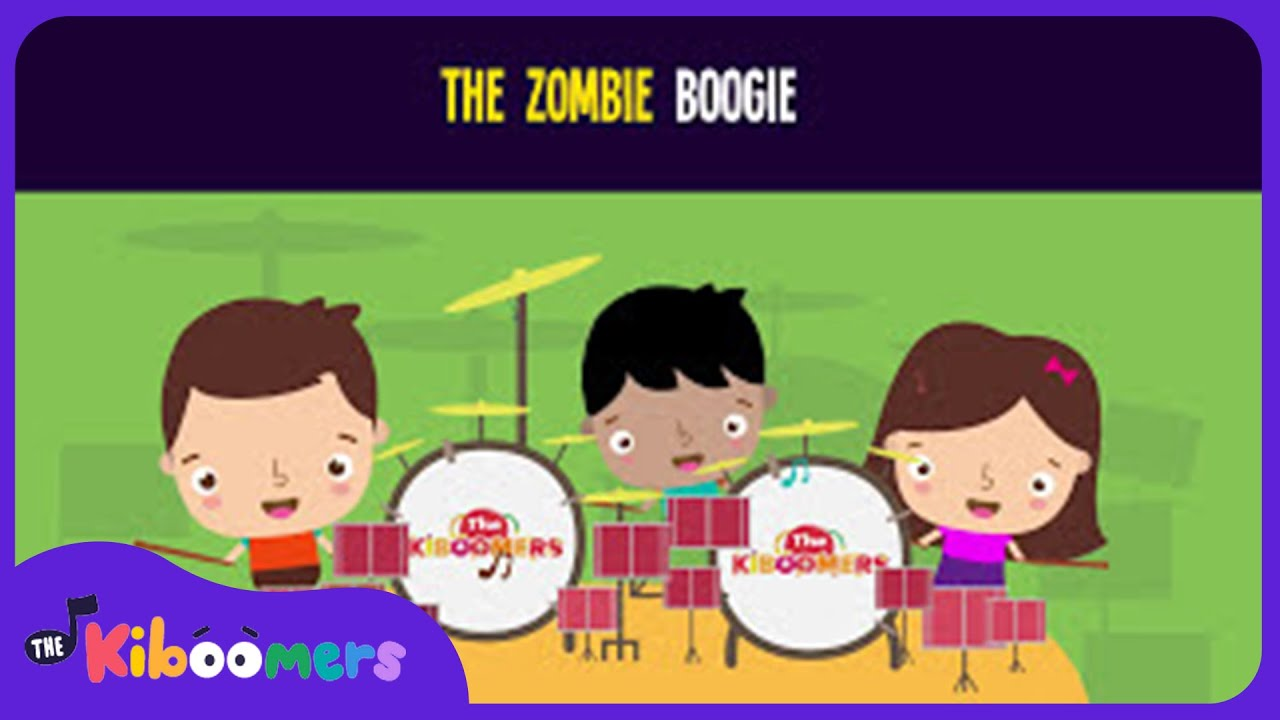 zombie boogie song for kids halloween dance songs for children the kiboomers - Halloween Dance Song