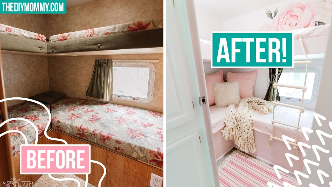 Extreme Rv Makeover Bunk Room Transformation Youtube