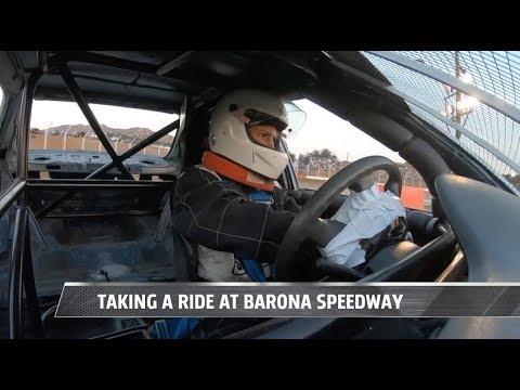 Racing down Barona Speedway