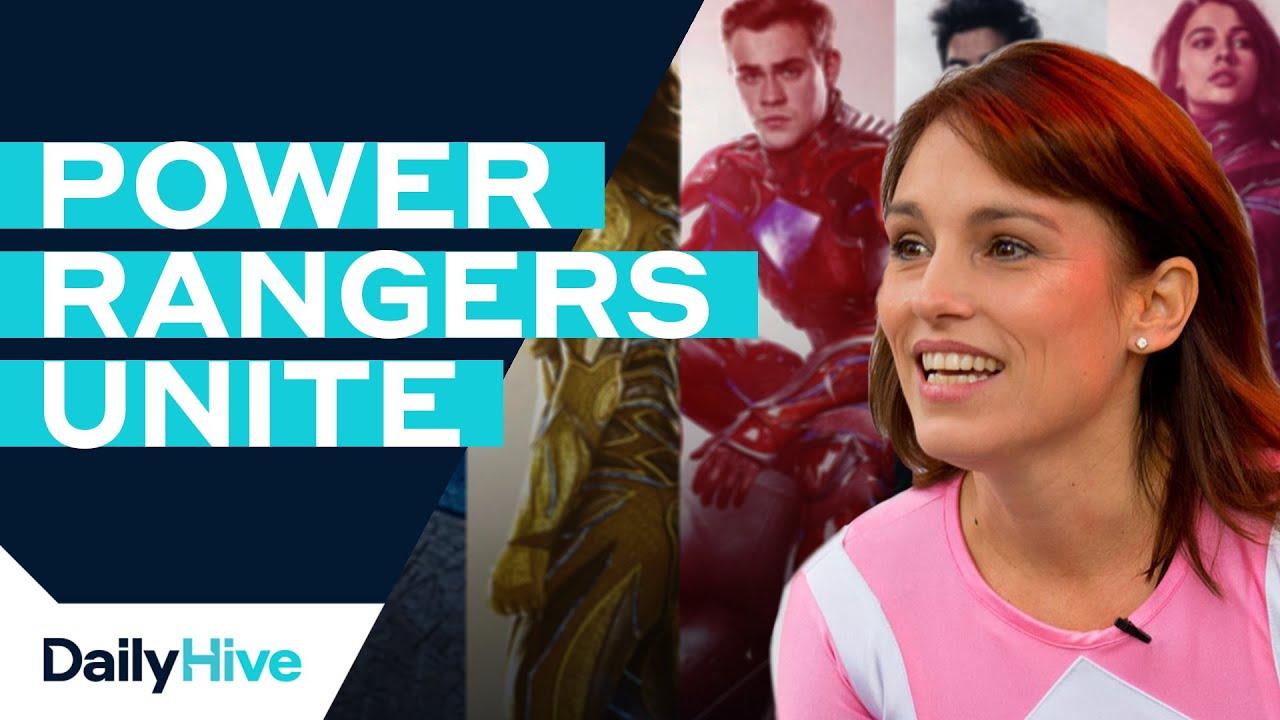 original pink ranger meets new power rangers youtube