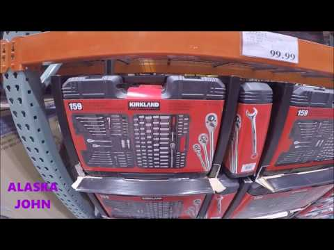 ALASKA COSTCO SHOPPING - Kirkland Signature 159PC Mechanics Tool Set