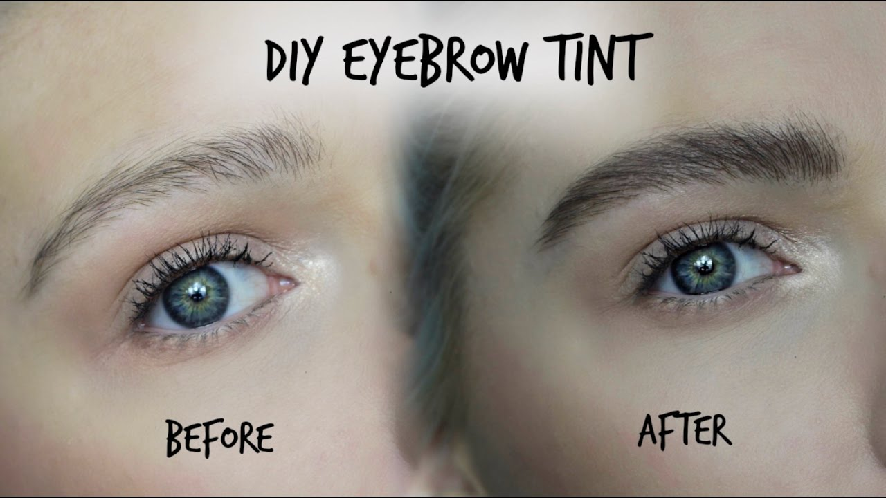 Diy Eyebrow Tint Testing Out Eylure Dybrow Lovefings Youtube