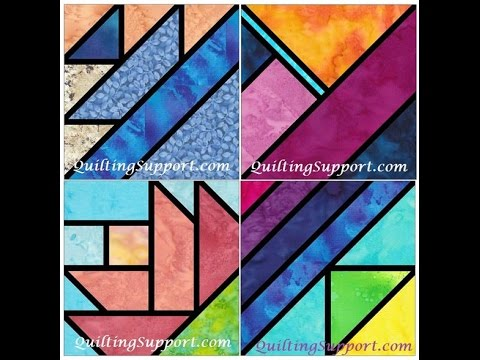 May 2016 Stained Glass Quilting Patterns