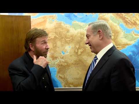 PM Netanyahu Meets Chuck Norris