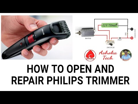 How To Open And Repair Philips QT4005/4006 Trimmer