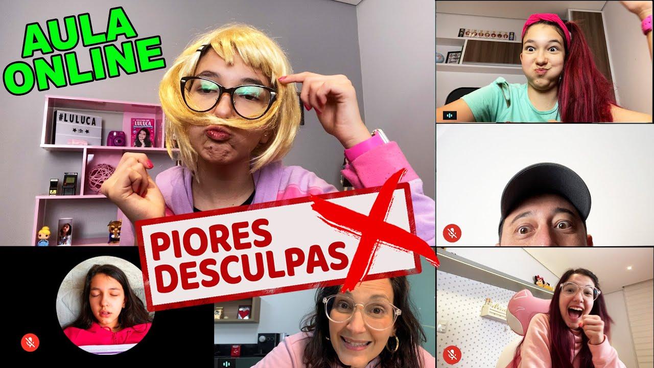 PIORES DESCULPAS DOS ALUNOS NA AULA ONLINE | Luluca