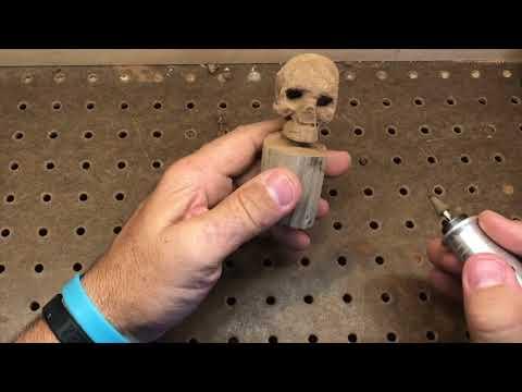 Wood Skull carving