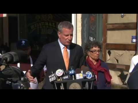 Mayor de Blasio Visits The Meatball Shop and Hosts Press Availability