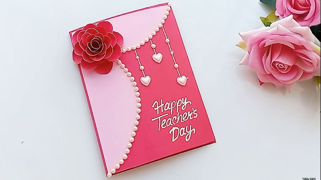 Diy Teacher S Day Card Handmade Teachers Day Card Making Idea Youtube Handmade Teachers Day Cards Happy Teachers Day Card Cards Handmade