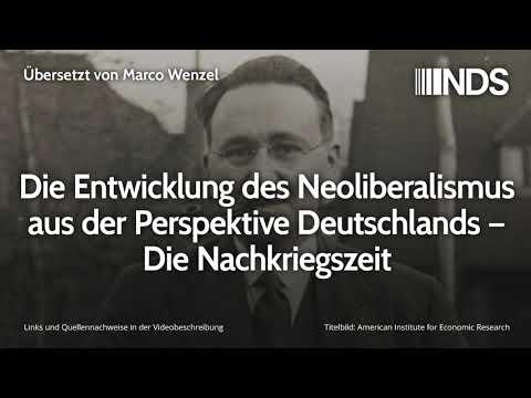 Die Entwicklung des Neoliberalismus aus der Perspektive Deutschlands – Die Nachkriegszeit