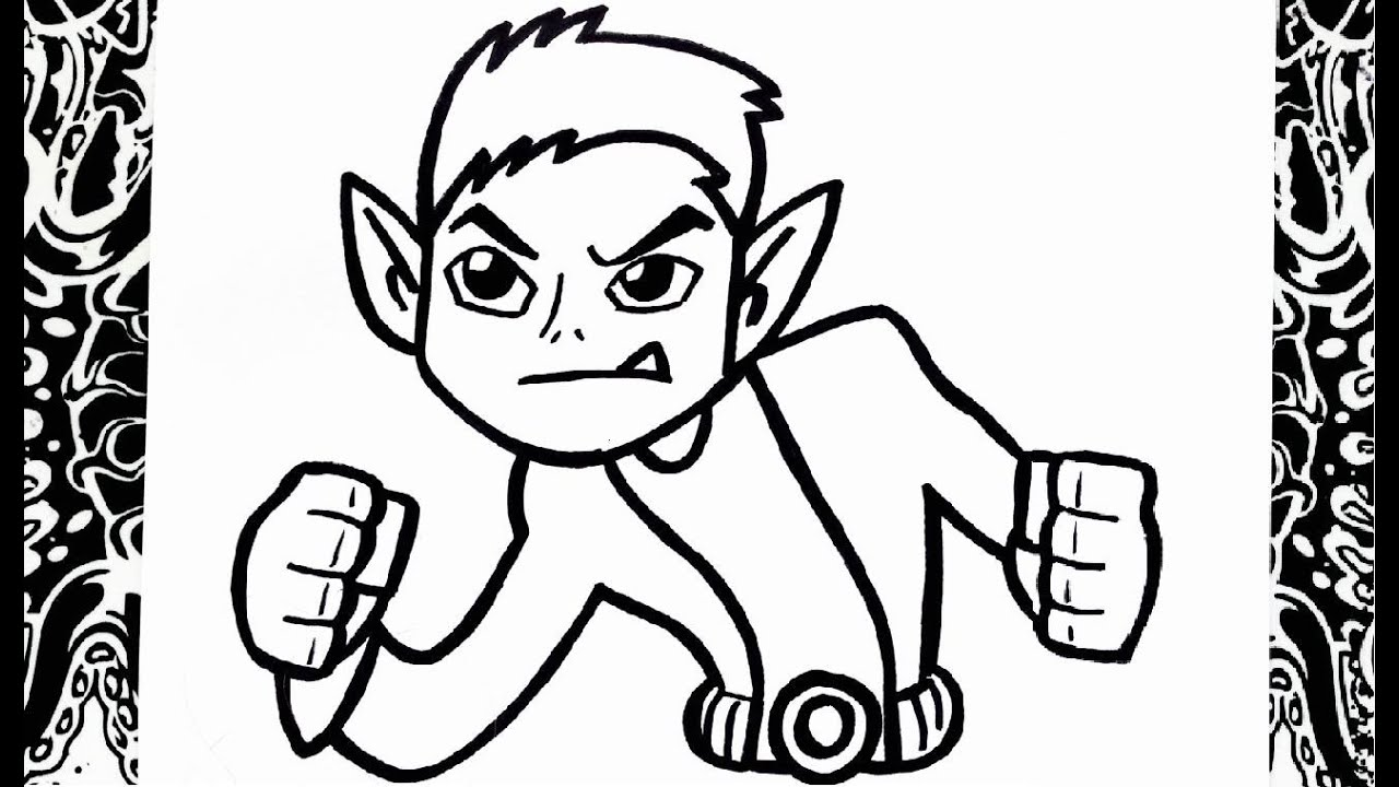 Como dibujar a chico bestia | how to draw beast boy - YouTube