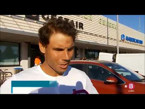 Rafael Nadal arrived in Mallorca after Roland Garros, 11 June 2018
