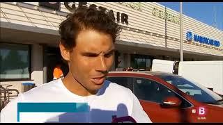 Rafael Nadal arrived in Mallorca after Roland Garros, 11 June 2018