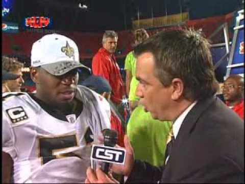 Jonathan Vilma Post Game Super Bowl Interview