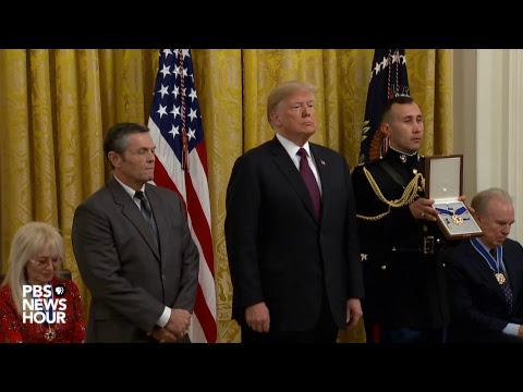 WATCH LIVE: President Trump awards medal of freedom