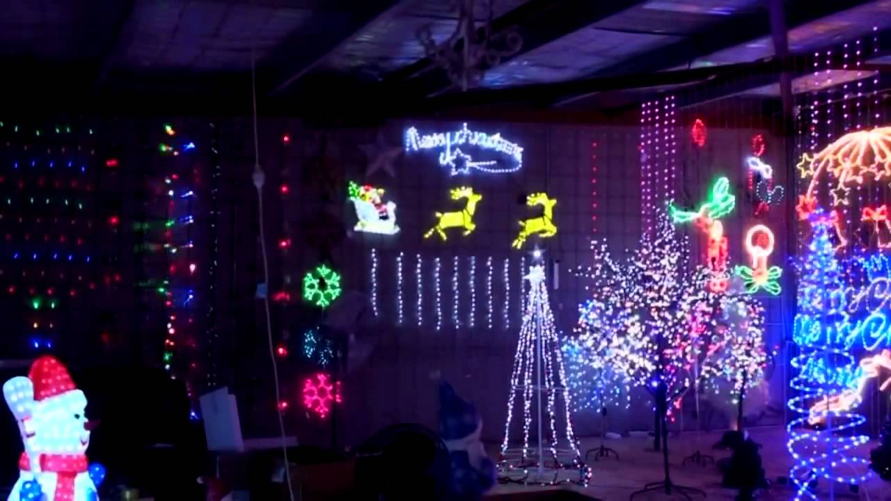 christmas light showcase christmas lighting display in our warehouse