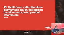 Vincit Oyj yhtiökokous 22.4.2020
