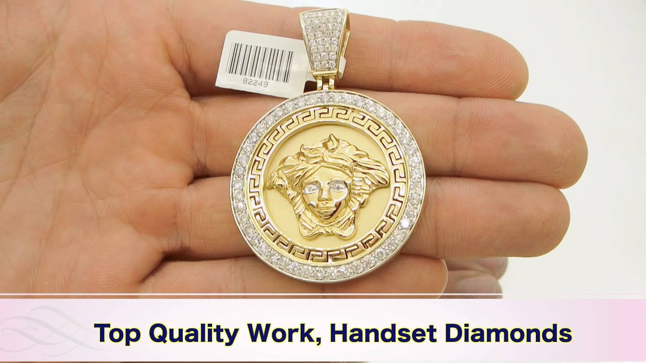 cut tone pendant products comparison popular jewelry saint lazarus multiple medallion two st karat