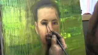 Мужской портрет с фото  Видео урок живописи  И Сахаров