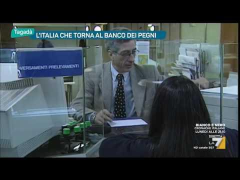 L'Italia che torna al banco dei pegni