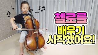 리원이가 첼로를 배우기 시작했어요! 리원이네 가족 일상…