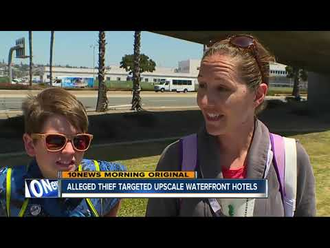 San Diego Harbor police: Accused thief targeted upscale waterfront hotels