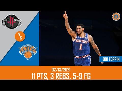 Obi Toppin's Full Game Highlights: 11 PTS, 3 REBS, 5-9 FG vs Rockets   20-21 NBA Season   02/13/2021