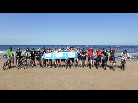 Coast to Coast Cycle Ride, Walney Island to Redcar, 14-16 August 2015