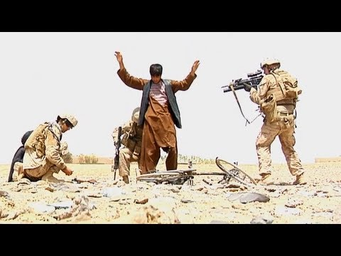 Marines Capture Taliban Fighters After Firefight  Sept 2013
