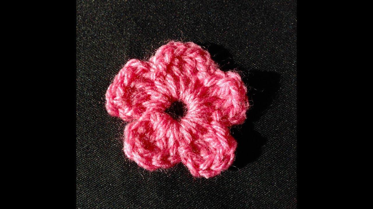 comment faire une fleur de 5 pétales au crochet - youtube