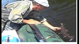 Первая рыбалка в этом году в верховьях горной реки.