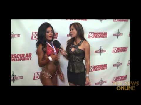 Jessica Arevalo after the 2013 IFBB Southern California Bikini Championships