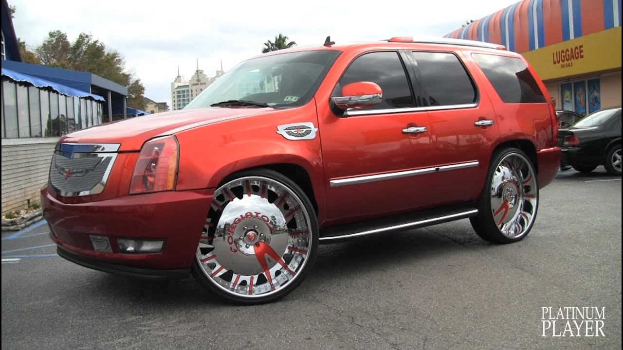 Escalade And Charger On 30 Inch Rims Orlando Youtube