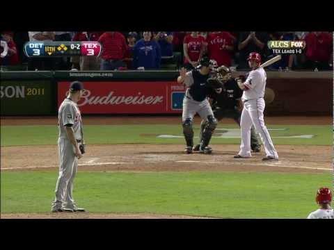 HD Oct 10, 2011 ALCS Nelson Cruz walk off grand slam Texas Rangers vs Detroit Tigers