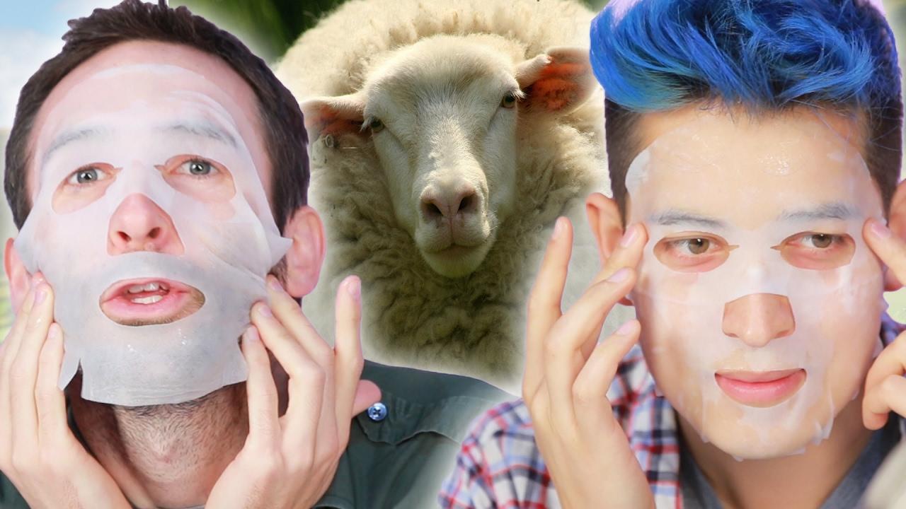 Guys Try Animal Placenta Face Masks - YouTube