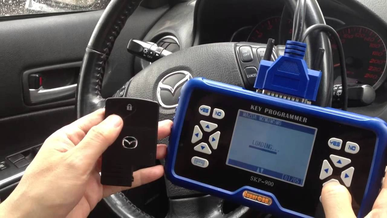 Mazda 6 Smart Key For Skp 900 Key Programmer Youtube