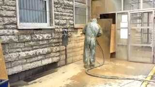 Facade cleaning, mobile sandblasting of brick concrete stone,renovation of building