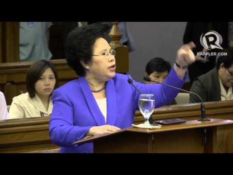 Miriam: Enrile a liar, womanizer, king of corrupt politics